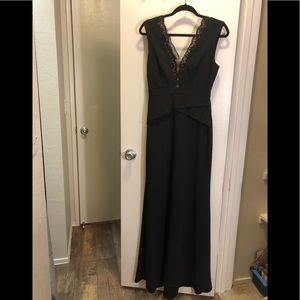 BCBG black sleeveless gown